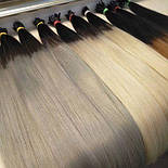 Славянские волосы в срезе 80 см. Цвет #Омбре, фото 3