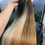 Славянские волосы в срезе 80 см. Цвет #Омбре, фото 4