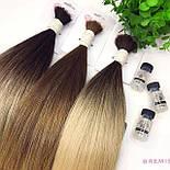 Славянские волосы в срезе 80 см. Цвет #Омбре, фото 5