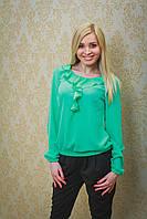 Блуза женская мята, фото 1