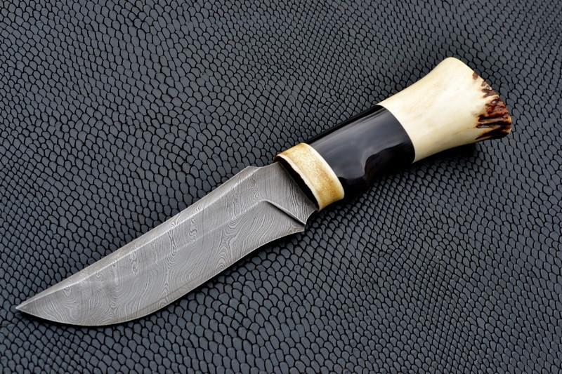 """Охотничий нож ручной работы """"Ковбой"""", дамасск"""