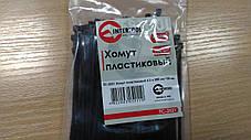 Хомут пластиковый 2,5x200 мм, (100 шт/упак), черный INTERTOOL TC-2521, фото 3