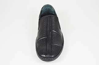 Мокасмны черные кожаные DD 32014, фото 3