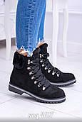 Чорні черевики з еко-замші злегка утеплені