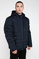 Масивна зимова чоловіча куртка синій 3029