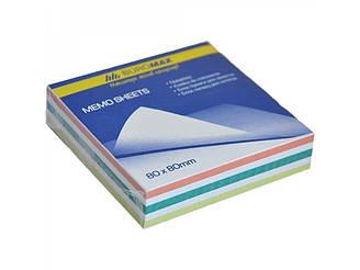 "Блок бумаги для заметок ""Зебра"" 80х80х20мм, не склеенный"