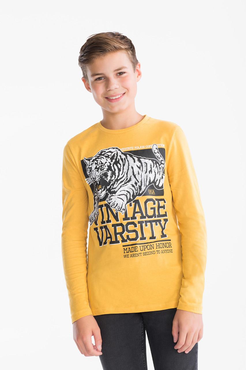 Желтый реглан для мальчика с тигром C&A Германия Размер 146-152