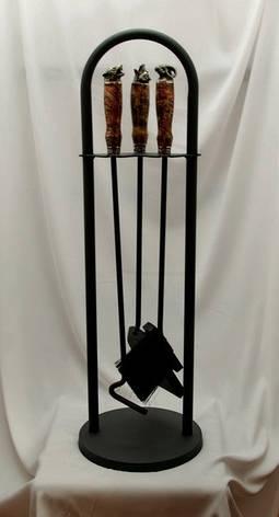 """Набор аксессуаров для ухода за мангалом, мангальный набор """"Охота-3"""", из капа клёна, фото 2"""
