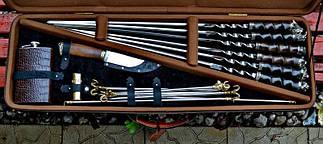 """Подарочный набор шампуров с ножом, флягой, мангалом """"Охота XXL"""", фото 2"""
