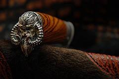"""Авторский коллекционный нож в подарок ножеману """"Viking"""", мозаичный дамаск, фото 2"""