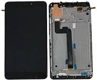 Дисплей для Xiaomi Mi Max 2 с тачскрином и рамкой черный Оригинал