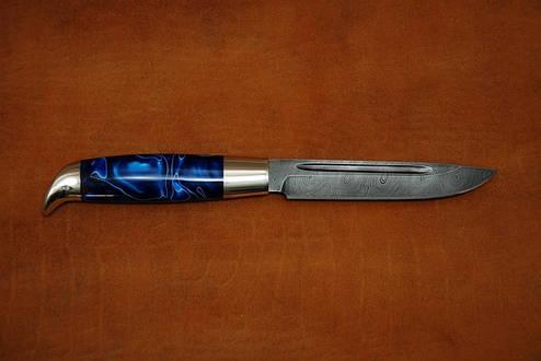 """Необычный финский нож ручной работы из дамасской стали """"Финка"""", фото 2"""