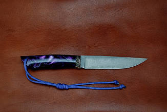 """Подарочный нож ручной работы """"Северное сияние"""", дамасск, фото 2"""