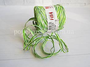 Рафія натуральна Біло-зелена