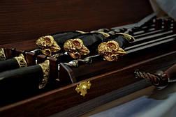 """Набор шампуров ручной работы """"Viking"""" в футляре из морёного вяза. Лучший подарок мужчине., фото 2"""