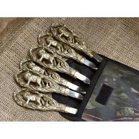 """Шампура ручной работы """"Львы"""" в чехле из ткани, 6шт, фото 2"""