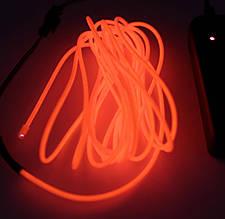 Холодный Неон Гибкая Неоновая Трубка Светящийся Шнур Светопровод 3м Комплект с Инвентором (Flex Neon Red)