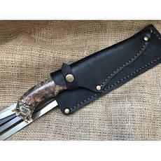 """Шампуры ручной работы """"Кабан"""" с подарочным ножом, фото 3"""