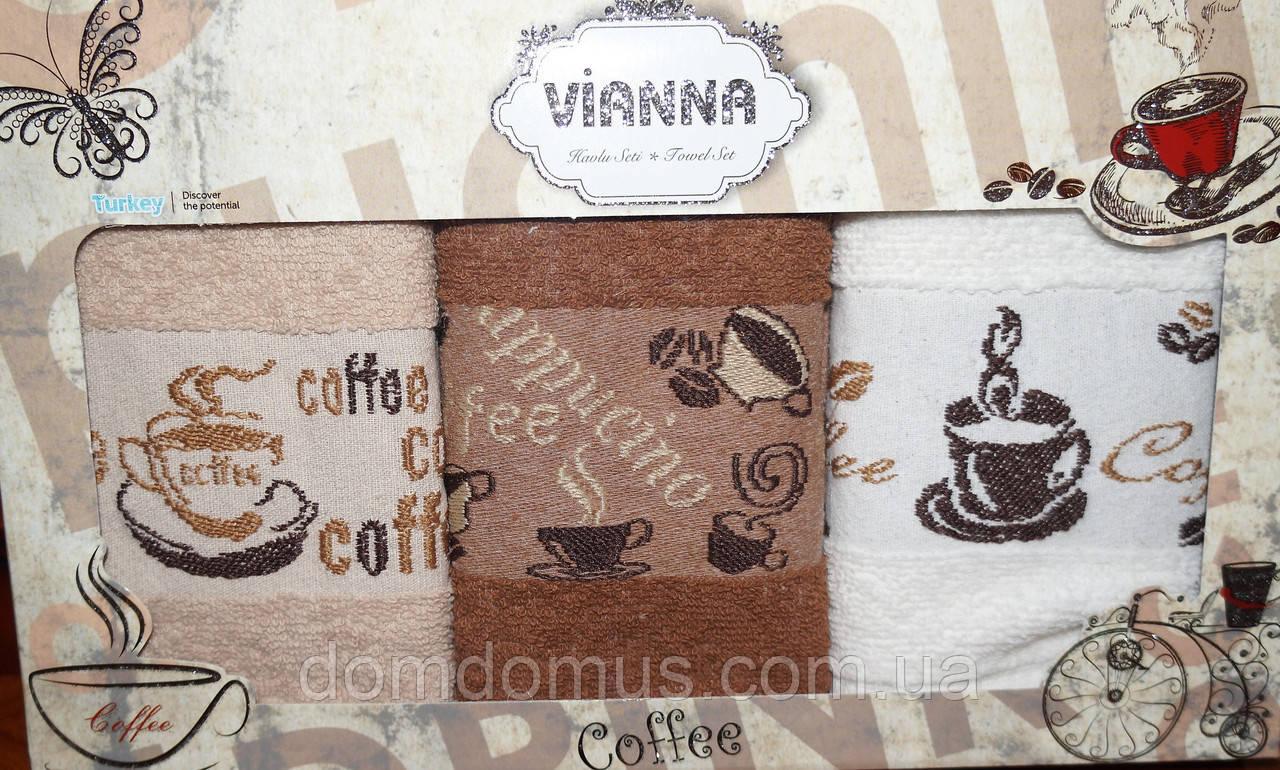 Набор кухонных махровых полотенец 30*50 см Vianna 3 шт.,Турция 507