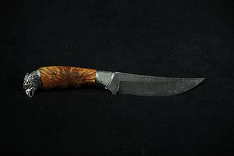 Нож для охоты ручной работы «Сокол», дамасск, фото 2