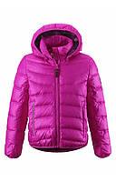 Зимняя пуховая куртка для девочки розовая, Reima, размеры  128, 134-164