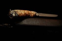 """Нож для охоты, рыбалки, туризма ручной работы """"Вожак"""" №2, 95Х18, фото 2"""