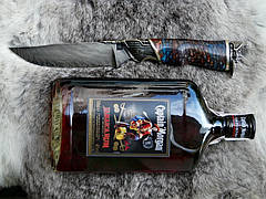 """Подарочный набор для мужчины """"Captain Morgan"""" - с ножом из дамасской стали и ромом (под заказ), фото 3"""