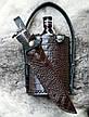 """Подарочный набор для мужчины """"Captain Morgan"""" - с ножом из дамасской стали и ромом (под заказ), фото 2"""
