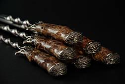 """Набір шампурів """"Політ"""" (6шт, 3мм) в сагайдаку, фото 2"""