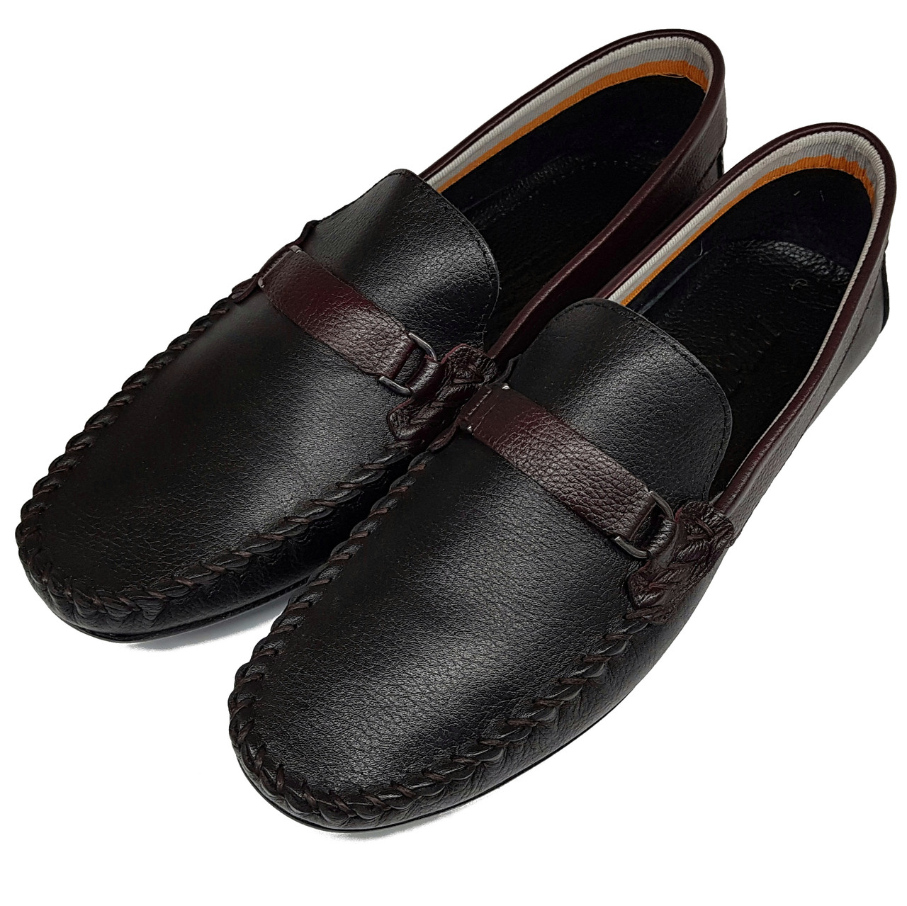 Мужские кожаные мокасины Rifellini черные MT0015/15 24741