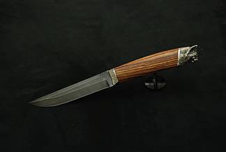 """Охотничий нож ручной работы """"Рысь"""", дамасск, фото 2"""