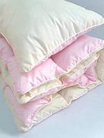 ✅ Комплект в детскую кроватку одеяло и подушка розовый