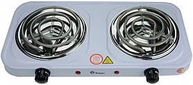 Электроплита MS 5802 Domotec 2 конфорки, спираль 2000 Ватт