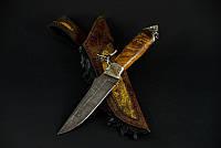 """Охотничий нож ручного изготовления """"Индеец"""", дамасск"""