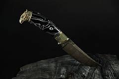 """Нож охотничий ручной работы """"Сокол"""", дамаск, фото 3"""