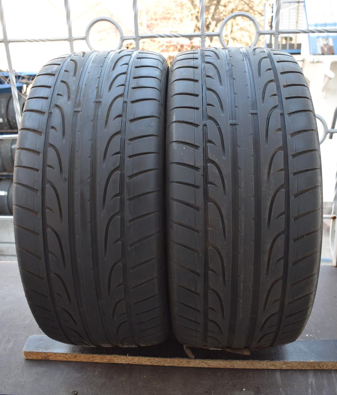 Летние шины б/у 275/40 R 20 Dunlop, 5 мм, пара