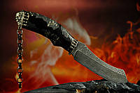 """Авторский нож ручной работы """"Ghost rider4"""", дамасск"""