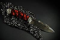 "Нож для охоты, туризма, рыбалки ""Ghost rider1"", дамасск"