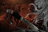 """Авторский нож ручной работы для охоты """"Ghost rider"""", дамасск"""