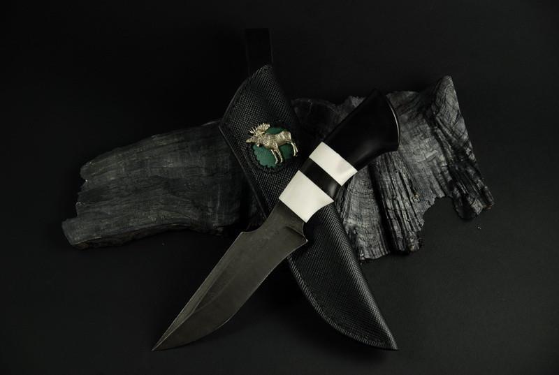 """Охотничий нож ручного изготовления """"Emovere"""", дамасск"""