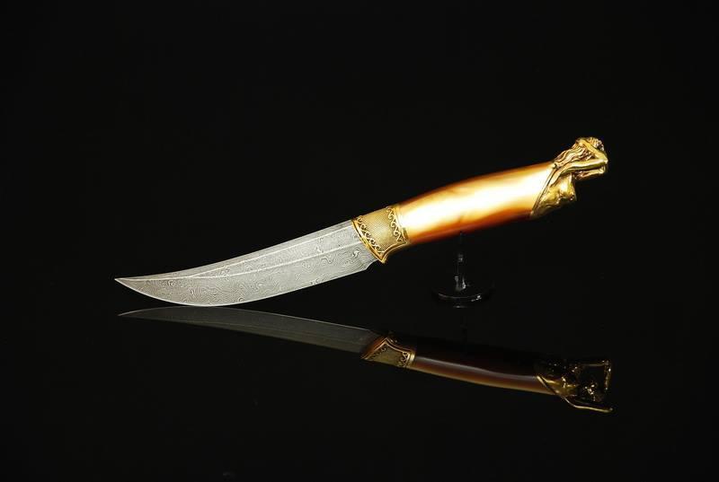 """Дамасский нож ручной работы """"From dusk to dawn"""""""