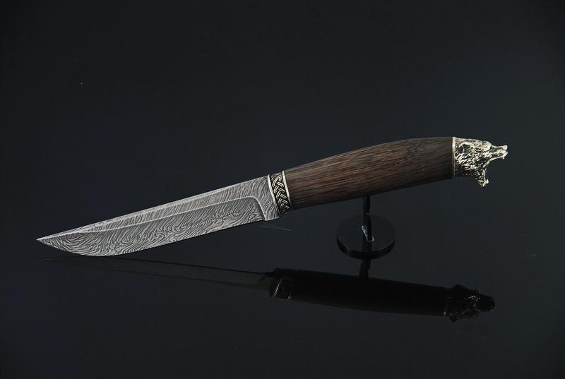 """Подарочный нож ручной работы """"Миха"""", дамасск"""