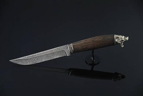 """Подарочный нож ручной работы """"Миха"""", дамасск, фото 2"""