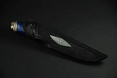 """Коллекционный нож, инкрустированный камнями """"Mysterious stranger"""", мозаичный дамасск, фото 2"""