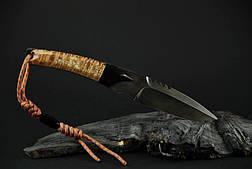 """Авторский нож ручной работы """"Клык"""", (дамасск, зуб мамонта), фото 2"""
