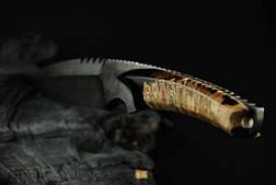 """Авторский нож ручной работы """"Клык"""", (дамасск, зуб мамонта), фото 3"""