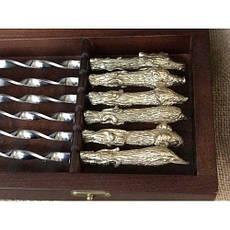 """Комплект шампуров с разборным мангалом """"Успешная охота"""", в кейсе из дерева, фото 3"""