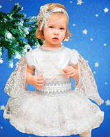 Снежинка белоснежная - платье. 98-104 см. Детские карнавальные костюмы