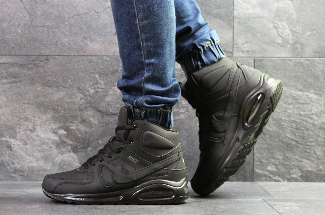ae239058 Мужские Зимние Кроссовки Nike Air Max 90,нубук,черные — в Категории ...