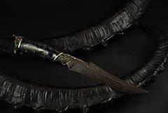 "Нож рыбака ручной работы ""Пират"", дамасск, фото 2"